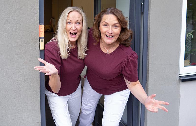 Maria Larsson och Marie-Louise Tillman på Haga HälsoCenter i Karlstad.